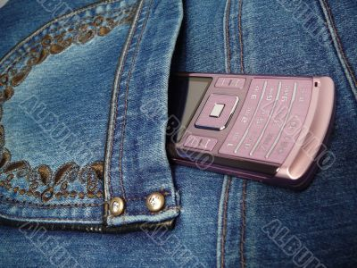 jeans and phone