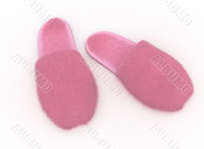fury soft home slippers, pink