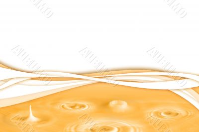 Yellow abstract water background