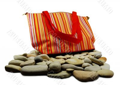 bag to rest on an isolated white background