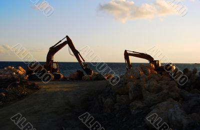 construction of shoreline