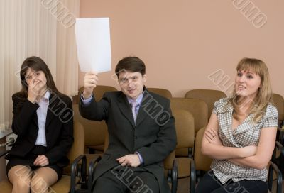 People at conference
