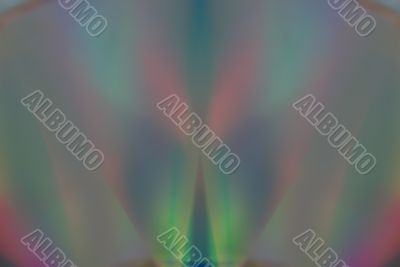 Colorful spectrum of light from DVD disks