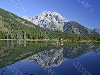 Reflection on Mount Moran