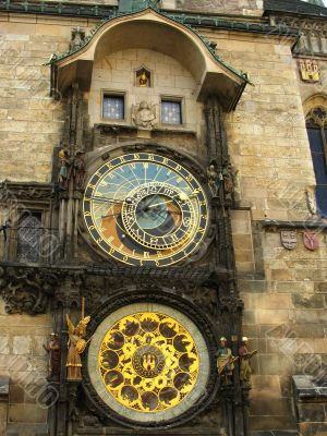 Famous old medieval astronomical clock