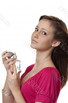 Teenager with perfume