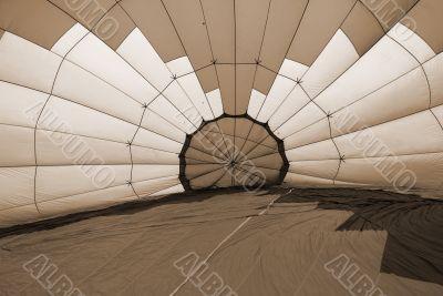Hot Air Balloon sepia