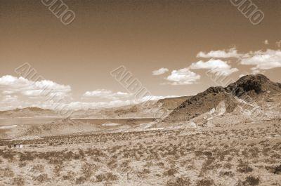 Lake Mead Las Vegas sepia
