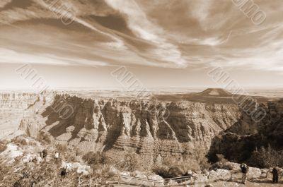 Grand Canyon View sepia