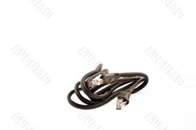 black internet cable