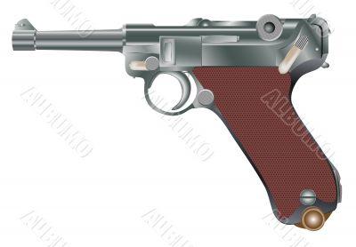 Vector image of vintage personal pistol