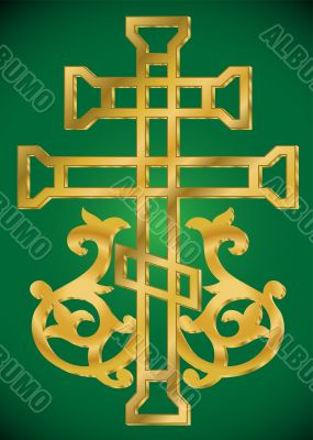 vector Christian Holy cross with ornament