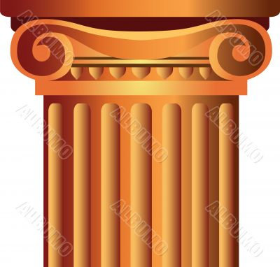 vector decorated column top capital illustration