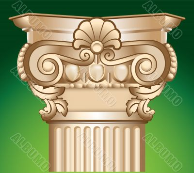 column top capital illustration over