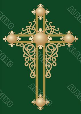 vector illustration of Holy cross with ornament