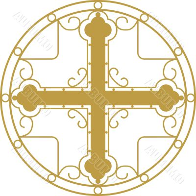 vector ornament with Christian Holy cross