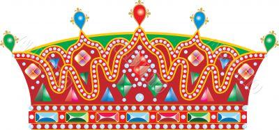 Vector Medieval Slavic king crown