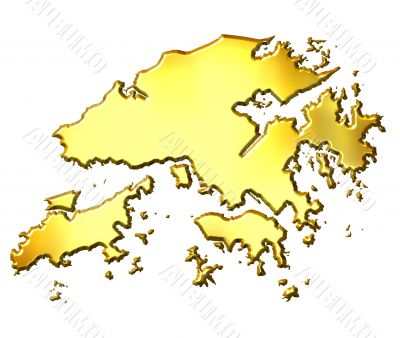 Hong Kong 3d Golden Map