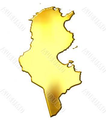 Tunisia 3d Golden Map