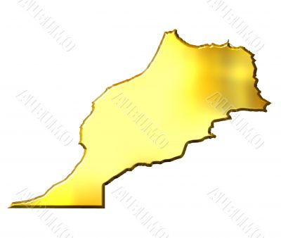 Morocco 3d Golden Map