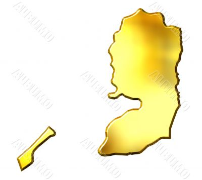 Palestine 3d Golden Map