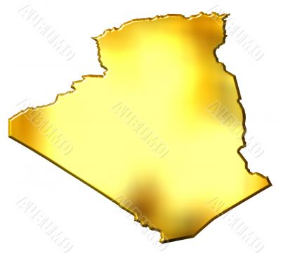 Algeria 3d Golden Map