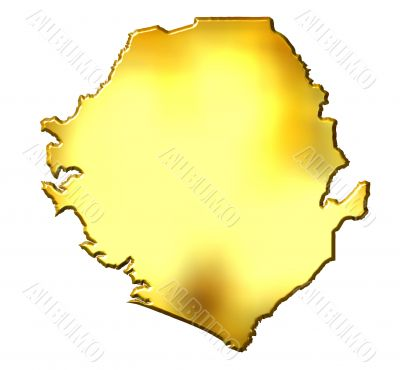 Sierra Leone 3d Golden Map