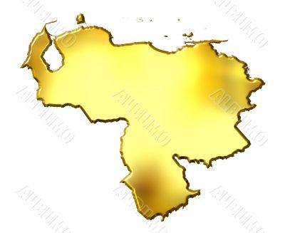 Venezuela 3d Golden Map
