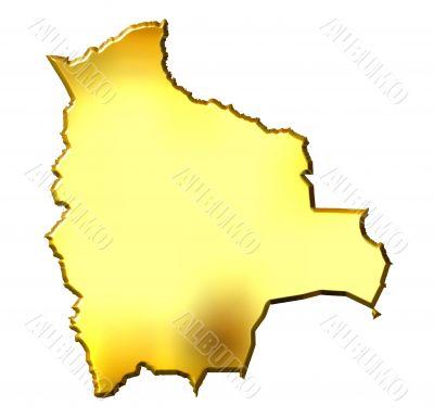 Bolivia 3d Golden Map
