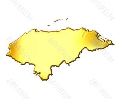 Honduras 3d Golden Map