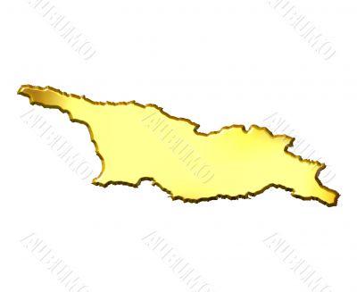 Georgia 3d Golden Map