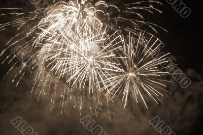 Fireworks Spectacular sepia