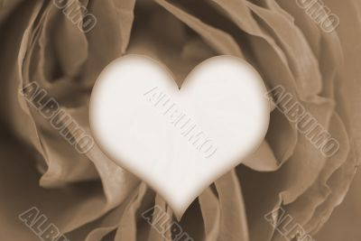 Happy Valentines Day from my heart sepia