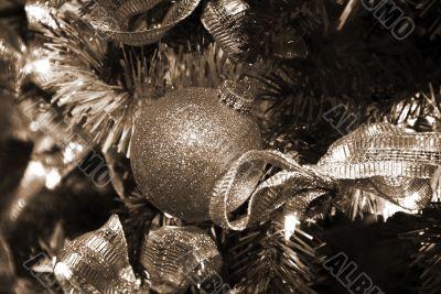 Christmas Decoration Baubles sepia