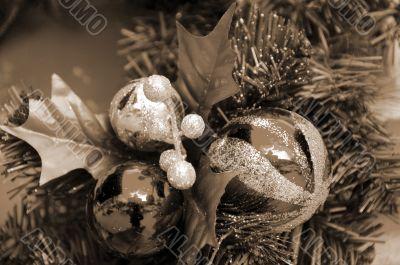 Christmas Decoration Balls sepia