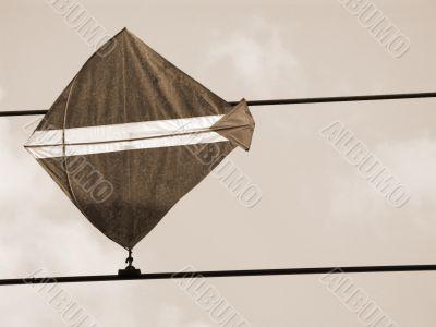 Kite Trapped sepia