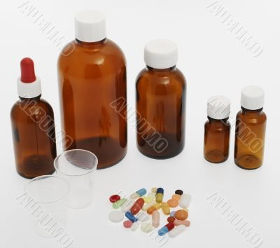 different tablets, medicine