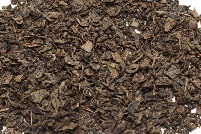 Green tea, dry background