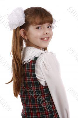 Smiling school girl. Education.