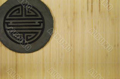 Harmony on bamboo texture