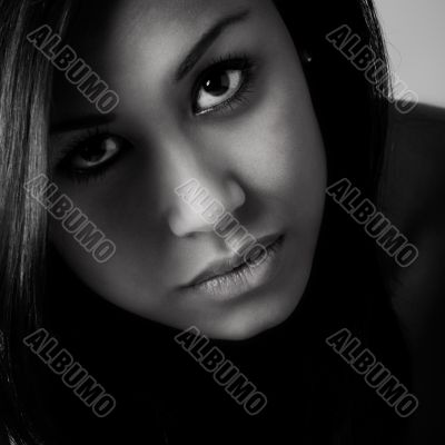 Young beautifull African woman up close