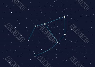 illustration of constellation `Canvas` in open space