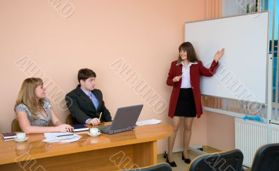 Young woman to speak at a meeting