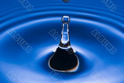 blue water droplet black and white outlined