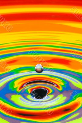 multicolored water crater