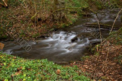 Wild creek in the Kellerwald mountains