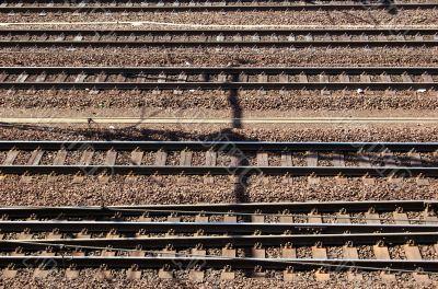 Brown railroad tracks