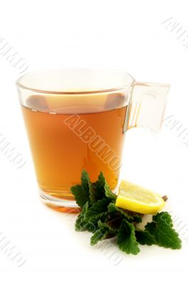 Tea with melisa and lemon