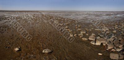 Wadden sea near the german north sea