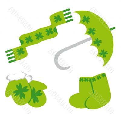 Set of icon for st. Patrick`s day